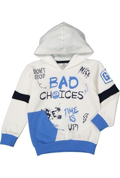 Miss Bella Patili Kids Kapşonlu Bad Choices Baskılı Mevsimlik 2-5 Yaş Eşofman Takım