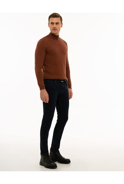 Koyu Lacivert Slim Fit Denim Pantolon 50234194-VR100