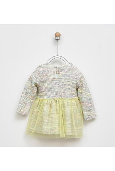 Panço Elbise Kız Bebek Sarı