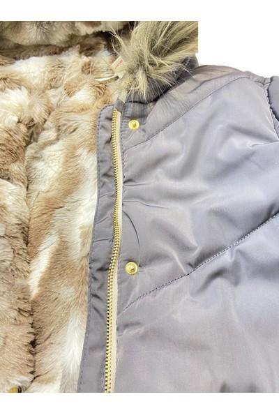 Midimod Mont Kaban Kürklü Kapşonlu Kız Çocuk