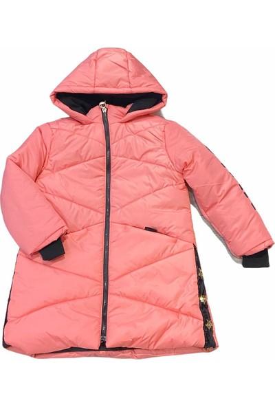 Midimod Mont Kaban Kapşonlu Kız Çocuk Pembe