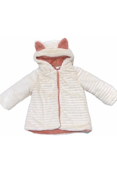 Midimod Mont Kaban Kürklü Kapşonlu Kız Bebek