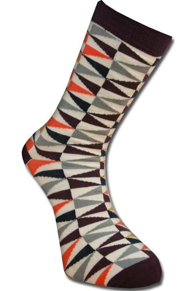 Tutku Çorap Bordo Origami Çorabı 40-45