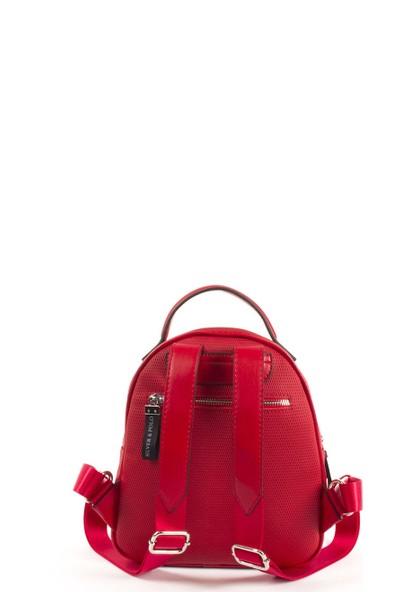 Silver & Polo Kadın Sırt Çanta Kırmızı 997
