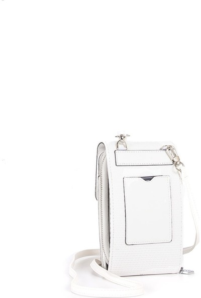 Silver & Polo Kadın Askılı Cüzdan Beyaz 889