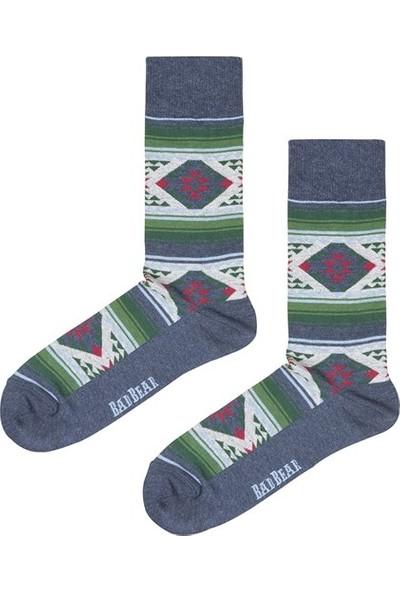 Bad Bear Carpet Çivit Mavi Uzun Çorap