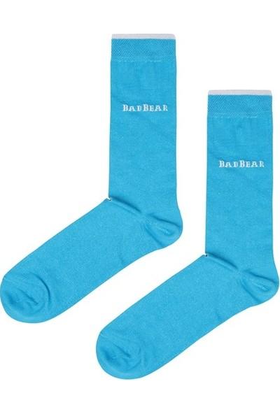 Bad Bear Pigment Turkuaz Uzun Çorap