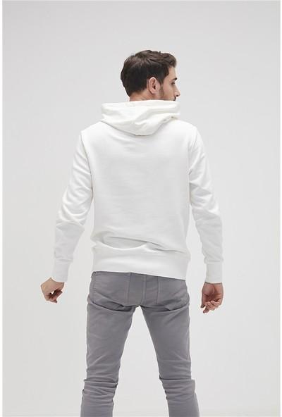 Bad Bear Bad Choice Kirik Beyaz Sweatshirt
