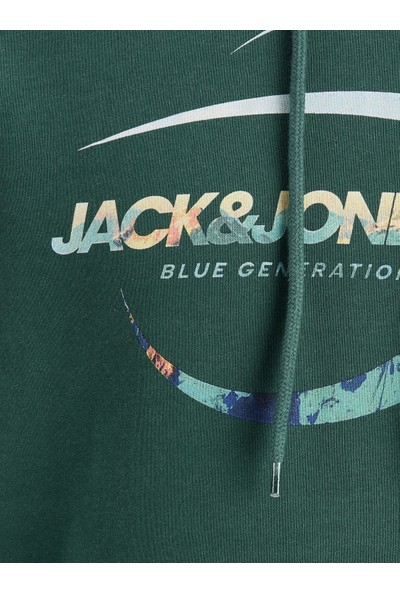 Jack & Jones 12178519 Jorscalıng Sweat Hood Fst Erkek Sweat Shirt 20K