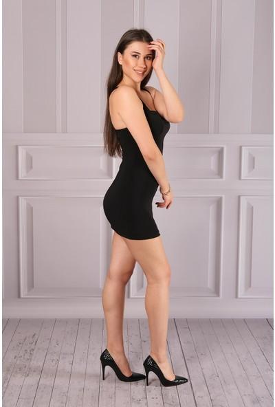 Toptancınız Gece Elbisesi Çapraz Bağlamalı Sandy Kumaş Mini Elbise