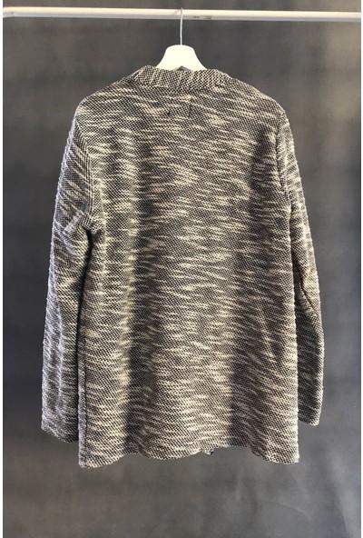 Export Siyah Kırçıllı Kimono Ceket