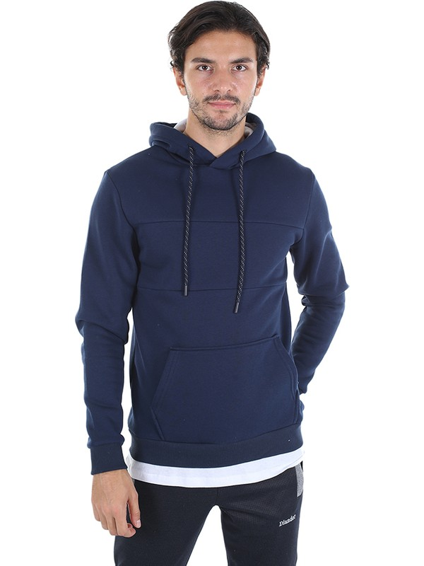 Diandor Slim Fit Erkek Kapüşonlu Sweatshirt Lacivert/navy 2025114