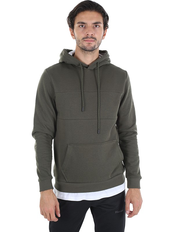 Diandor Slim Fit Erkek Kapüşonlu Sweatshirt Haki/khaki 2025114