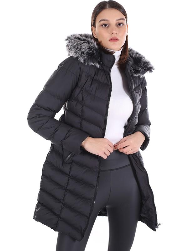 Brendon Kadın Uzun Mont 512 Siyah/black 20W32000512
