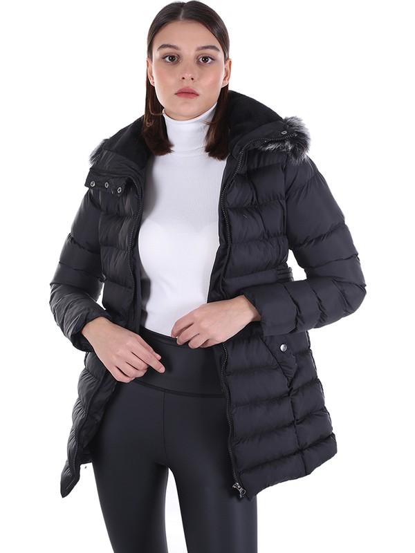 Brendon Kadın Kapüşonlu Mont 522 Siyah/black 20W32000522