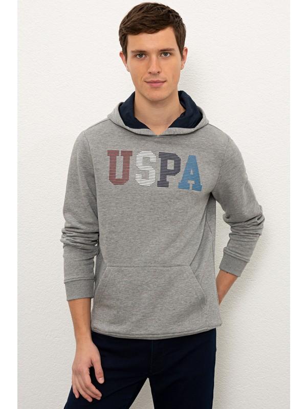U.S. Polo Assn. Erkek Gri Sweatshirt 50225467-VR086