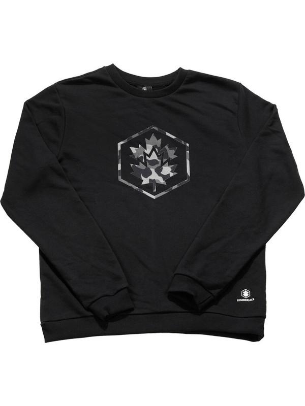 Lumberjack Logan Siyah Erkek Sweatshirt