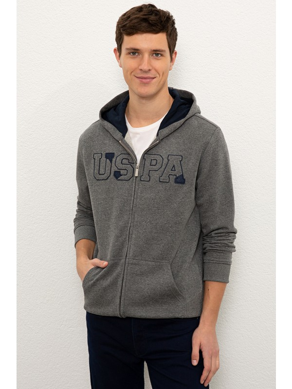 U.S. Polo Assn. Erkek Gri Sweatshirt 50225494-VR081
