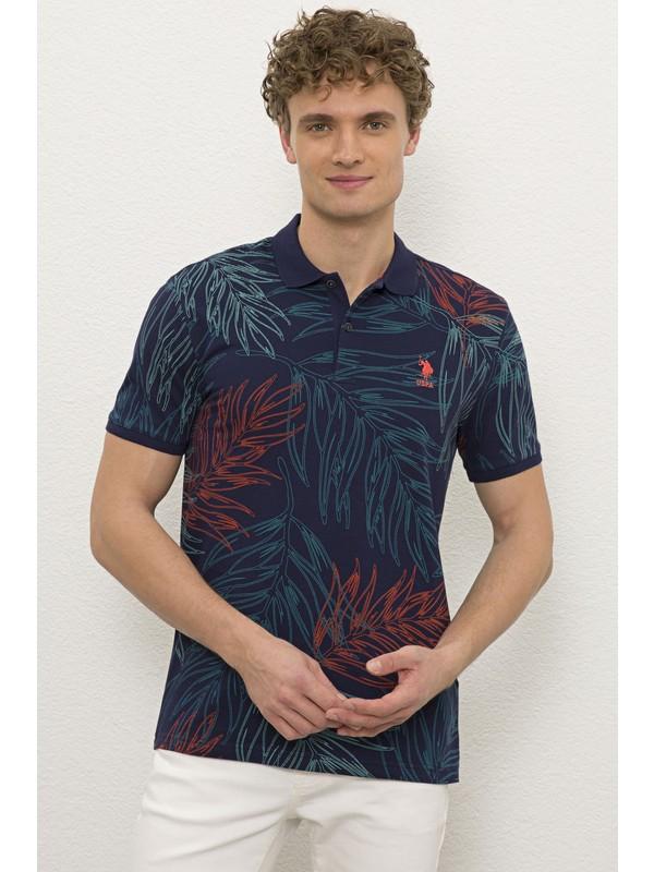 U.S. Polo Assn. Erkek Lacivert T-Shirt 50225163-VR033
