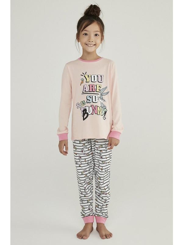Penti Çok Renkli Kız Çocuk Bugs Bunny 2'li Pijama Takımı