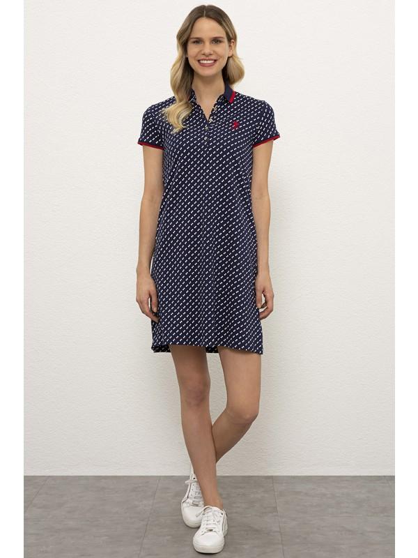 U.S. Polo Assn. Lacivert Örme Elbise 50225572-VR033