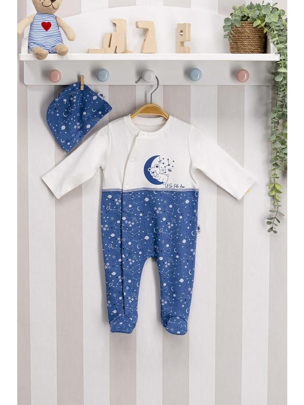 U.s. Polo Assn Lisanslı Indigo Bebek Tulum Takım
