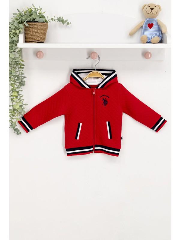 U.s. Polo Assn Lisanslı Kırmızı Lacivert Bebek Sweatshirt