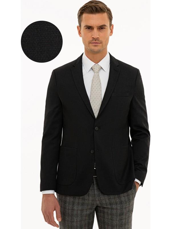 Pierre Cardin Siyah Slim Fit Ceket 50230071-VR046