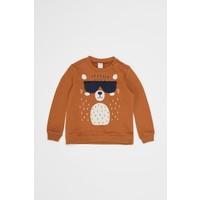 DeFacto Erkek Bebek Üç Boyutlu Baskılı Sweatshirt S8890A220WN