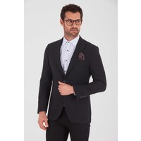 Hatem Saykı Siyah Slim Fit Klasik Blazer Ceket