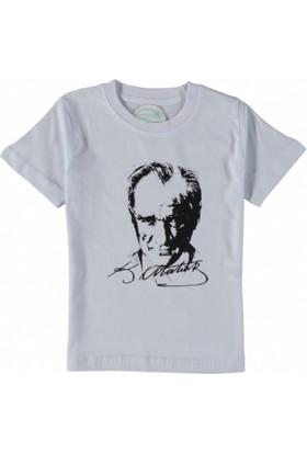 Lollico Erkek Çocuk / Kız Çocuk Önü Atatürk Desenli Kısa Kol Tişört