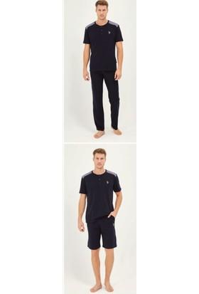 U.S. Polo Assn. Erkek 3'lü Pijama Takımı