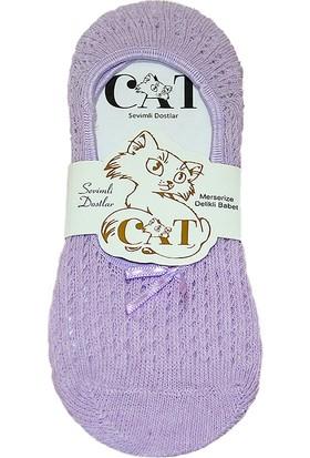 Cat Kadın Fiyonklu Babet Çorap Mor