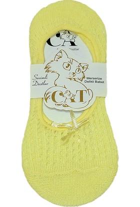 Cat Kadın Fiyonklu Babet Çorap Sarı