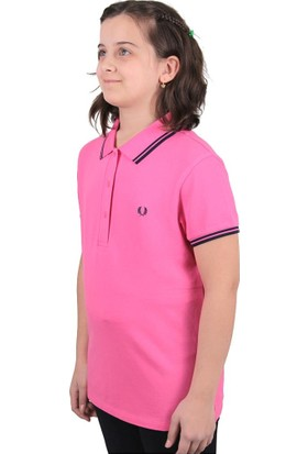 Fred Perry Twin Tipped Çocuk Polo T-Shirt Pembe (G9762-F730)