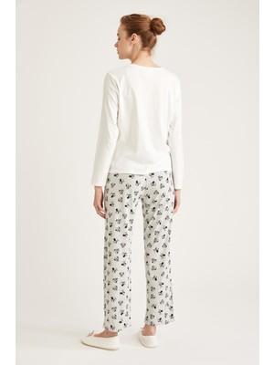 DeFacto Mickey Mouse Lisanslı Pijama Takımı S9925AZ20WN