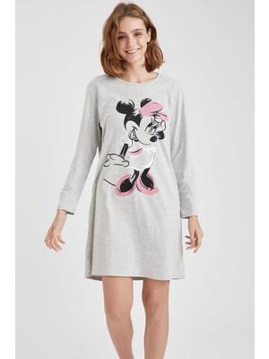 DeFacto Mickey Mouse Lisanslı Relax Fit Uzun Kollu Gecelik T1019AZ20WN