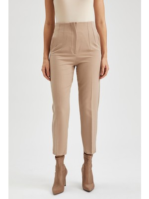 DeFacto Slim Fit Yüksek Bel Dokuma Pantolon S8621AZ20AU