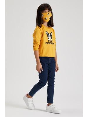 DeFacto Kız Çocuk Baskılı Sweatshirt ve Maske Takım S9430A620AU