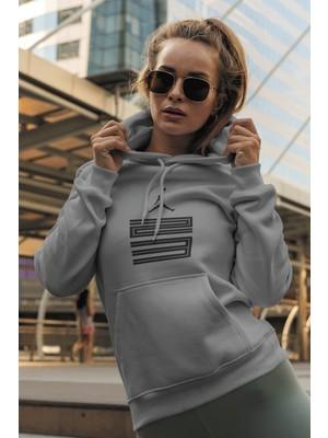 Tonny Mood Air Jordan 11 Gri Nba Kadın Kapşonlu Sweatshirt - Hoodie