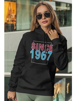 Tonny Mood Since 1967 Siyah Kadın Kapşonlu Sweatshirt - Hoodie