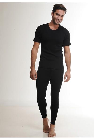 Hasyün 2105 Siyah Yün Erkek Uzun Alt İçlik