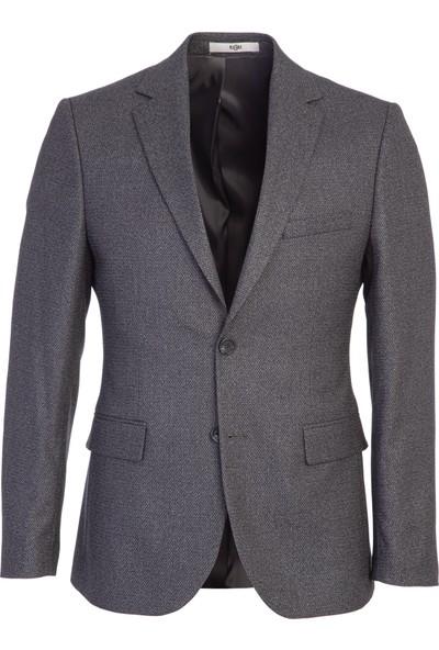 Kiğılı Slim Fit Desenli Ceket