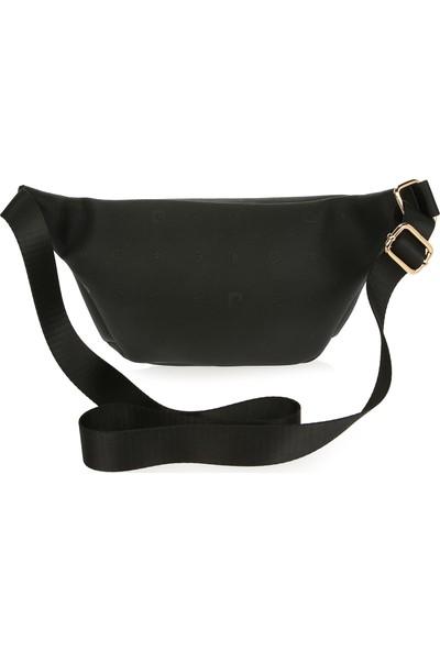 Pierre Cardin Kadın Çanta Siyah Logolu 05PO16K1196-PO S