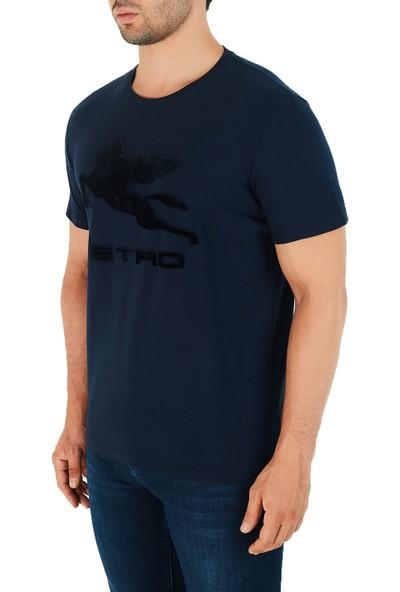 Etro Pamuklu Bisiklet Yaka Erkek T-Shirt 1Y020 7910 0200