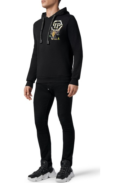 Philipp Plein Baskılı Kapüşonlu Erkek Sweatshirt F20C MJB1983 PJO002N 02