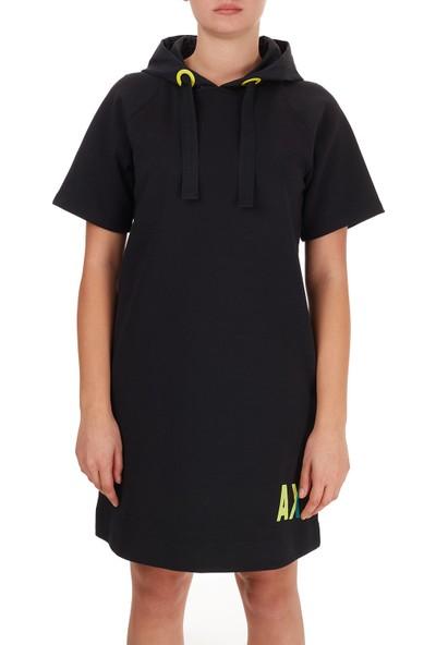 Armani Exchange Logo Baskılı Kapüşonlu Cepli Elbise Kadın Elbise 6HYA85 YJ6EZ 1200