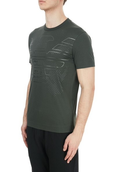 Emporio Armani Baskılı Bisiklet Yaka Erkek T-Shirt 6H1TG2 1jtuz 0564