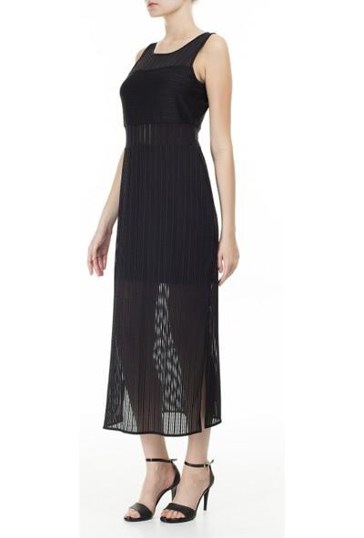 Armani Exchange Yarı Saydam Panelli Bodycon Uzun Elbise Kadın Elbise 3HYA95 YJ88Z 1200
