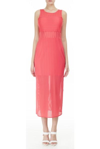 Armani Exchange Yarı Saydam Panelli Bodycon Uzun Elbise Kadın Elbise 3HYA95 YJ88Z 1476